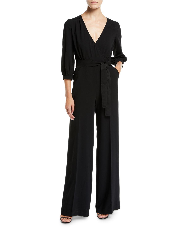 e1e716a6e26f Lyst - Trina Turk Mineral V-neck Jumpsuit W  Pockets in Black