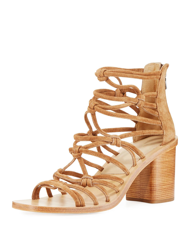 1b7c9c3e3da Lyst - Rag   Bone Camille Caged Macrame Mid-heel Sandal in Natural