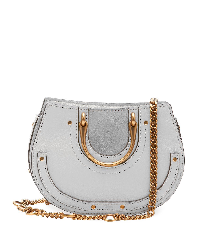 8e3bb6681aa Chloé Gray Pixie Mini Round Shoulder Bag