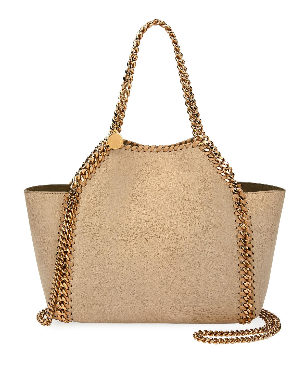 dda39ffdf6e6 Stella McCartney. Women s Natural Falabella Mini Reversible Shaggy Deer  Tote Bag