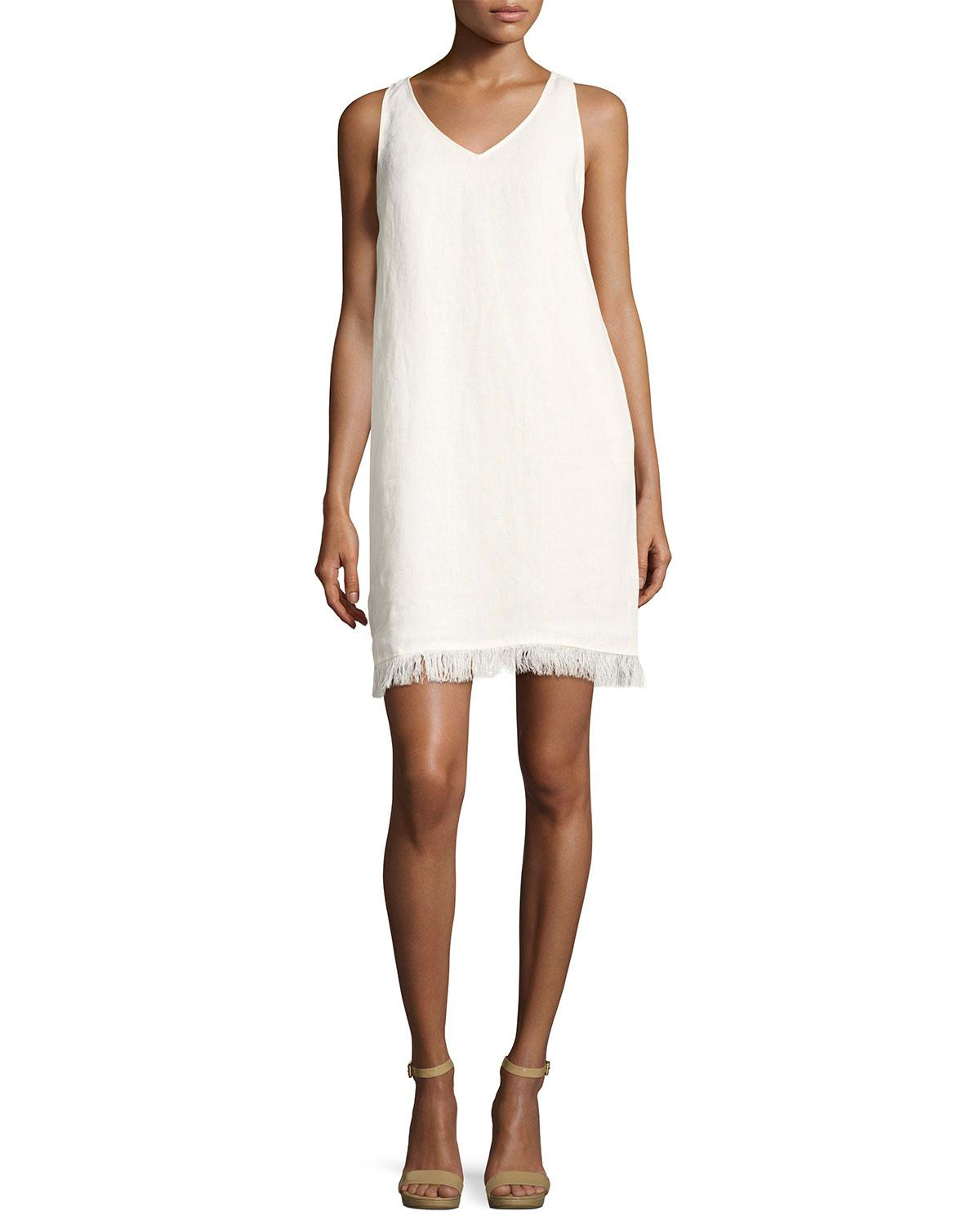 cd4d6689665 Gallery. Previously sold at  Neiman Marcus · Women s White Linen Dresses ...