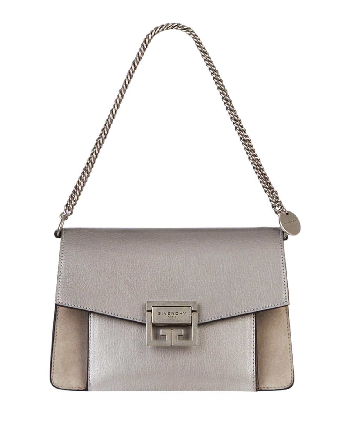 Givenchy - Gv3 Small Metallic Leather   Suede Shoulder Bag - Lyst. View  fullscreen 7b497c2a4a