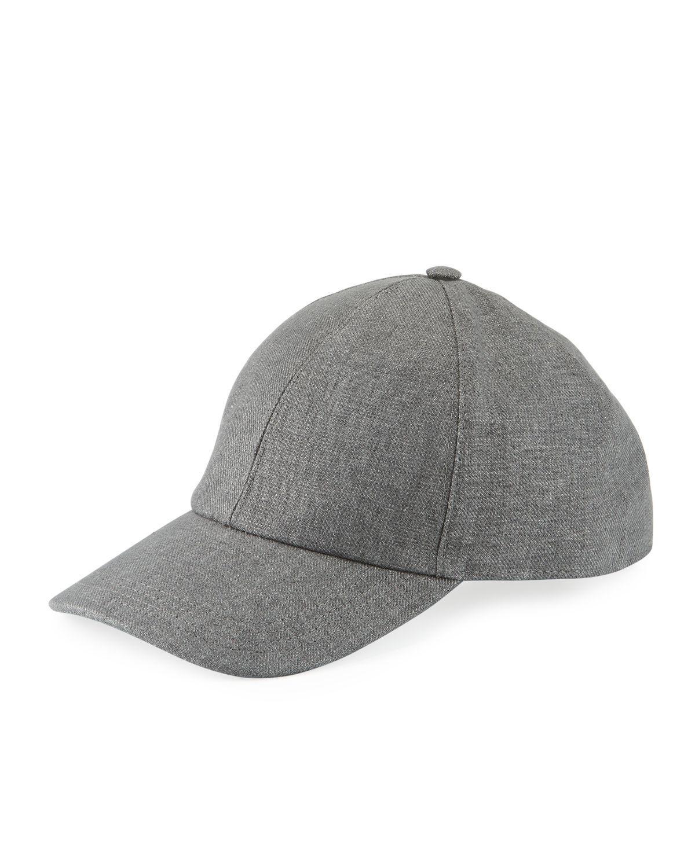 37a96c75d80 Brunello Cucinelli Solid Linen Baseball Cap in Gray for Men - Lyst