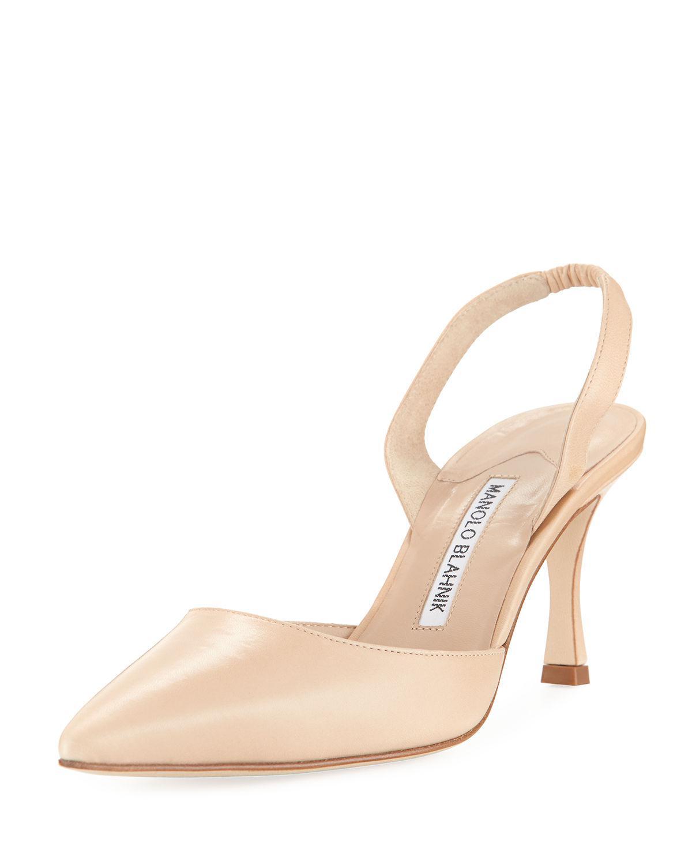 a1a87b3394678 Manolo Blahnik Carolyne Leather Mid-heel 70mm Halter Pumps in ...