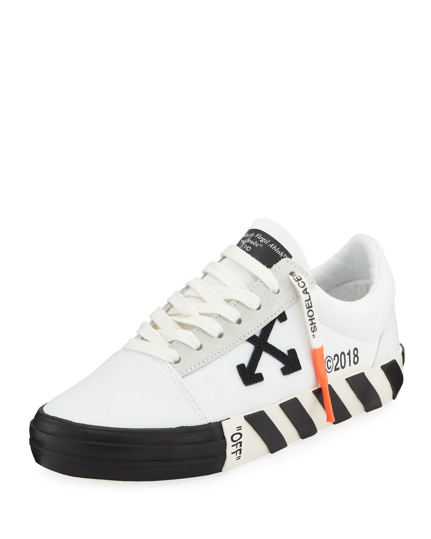 Logo Stripe Canvas Low-top Sneakers