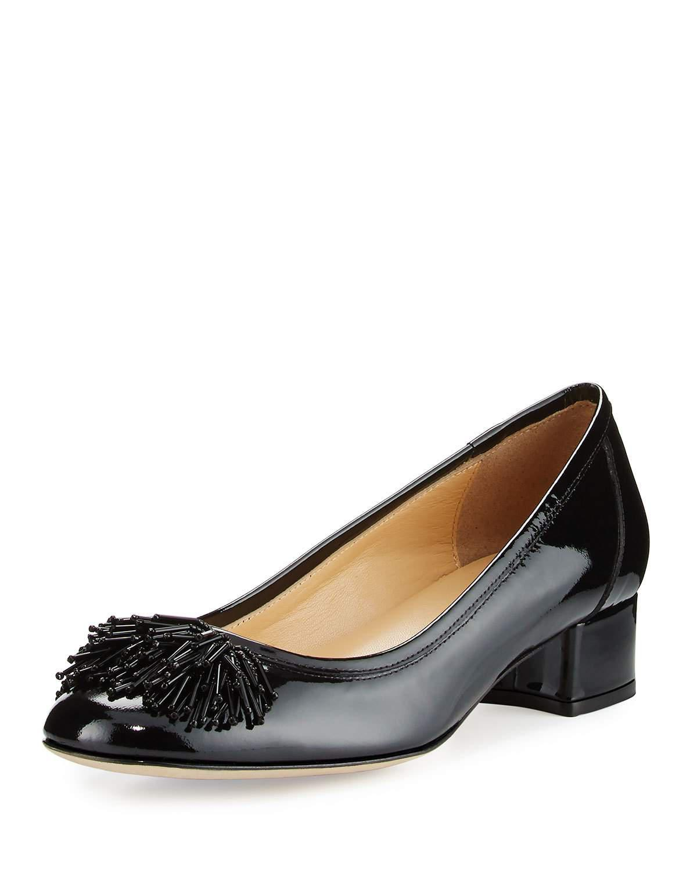 12fd7d4a5a4e8 Lyst - Sesto Meucci Flynn Ornament Patent Low-heel Pump in Black