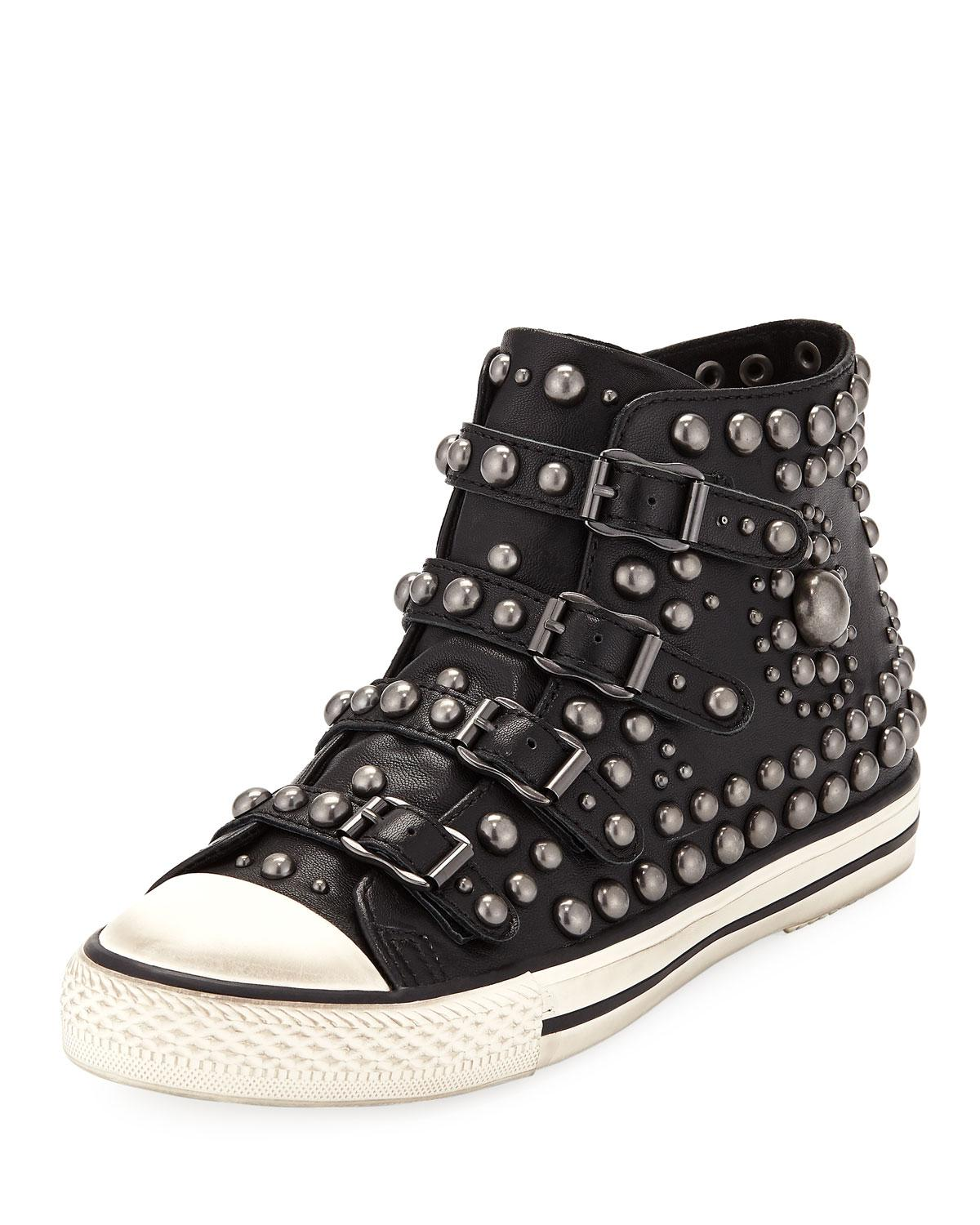 390b2c7c2df5b Lyst - Ash Vito Studded High-top Sneakers in Black