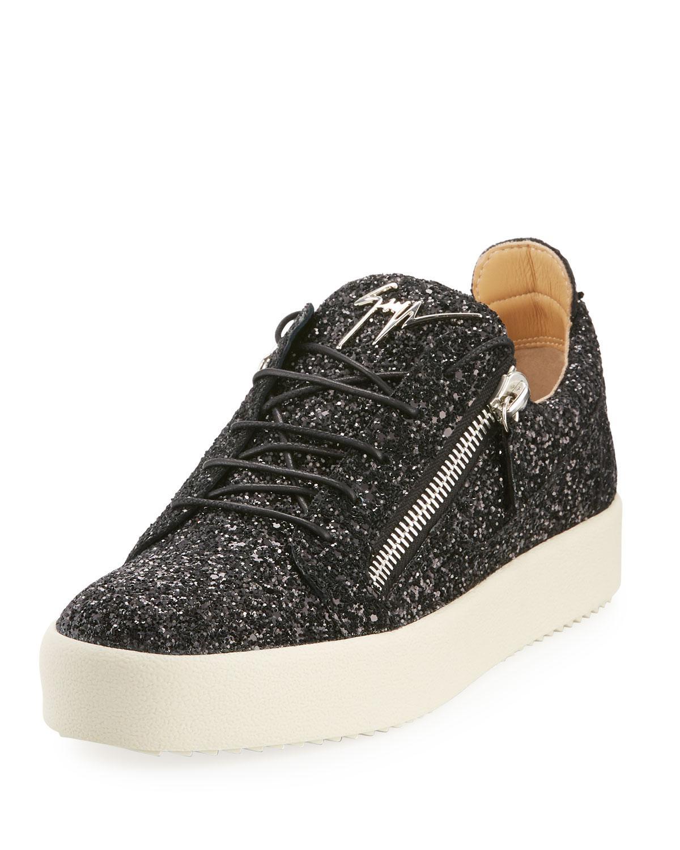 Leather Men's Glitter Low-top Sneakers