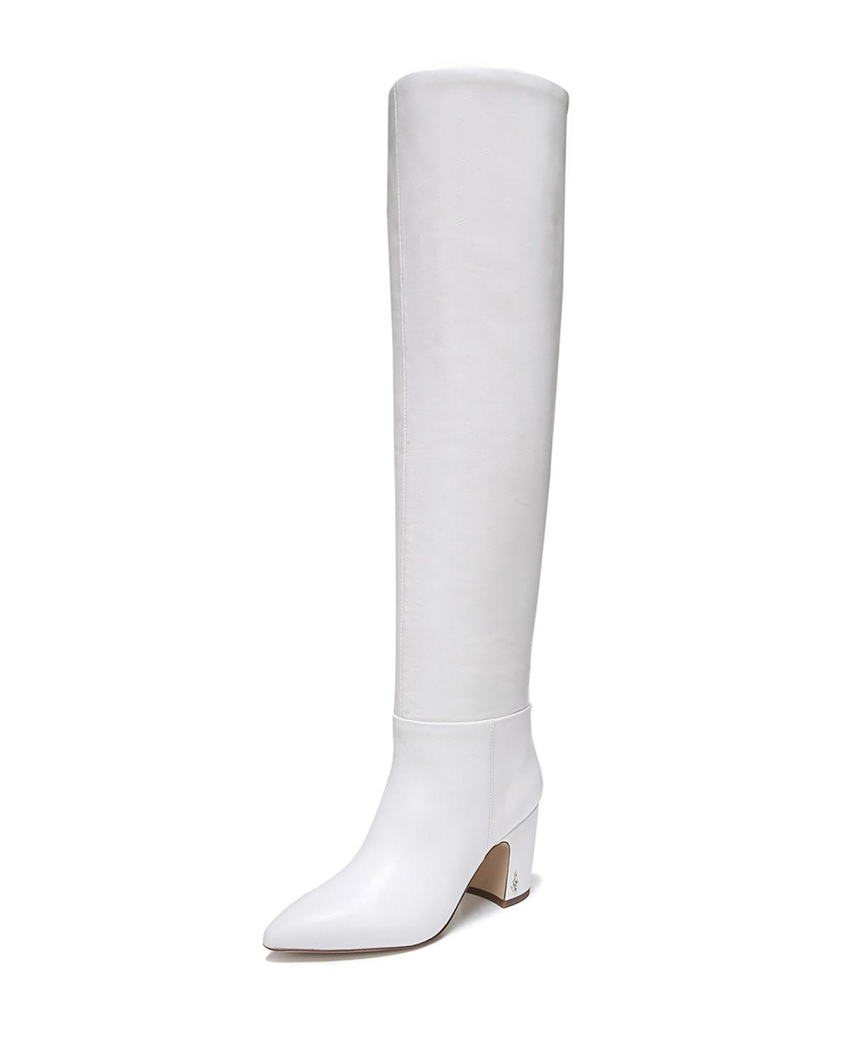 4016f8a2ac21 Lyst - Sam Edelman Hutton Leather Over-the-knee Boots in White
