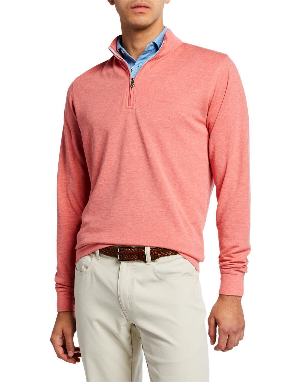 bd979d7621 Lyst - Peter Millar Men s Crown Comfort Interlock Zip Sweater in Red ...
