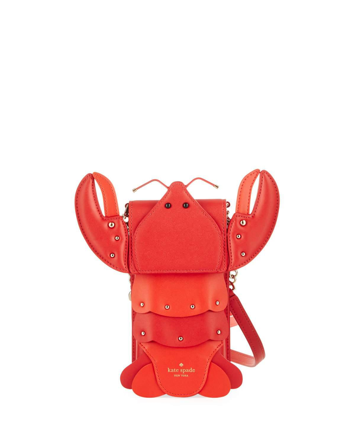 finest selection d7d6a e52b5 Kate Spade Red Lobster North/south Phone Crossbody Bag