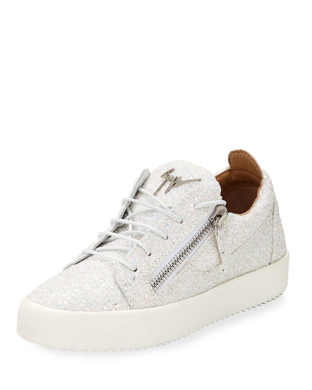 a8fa3d5cbf1 Lyst - Giuseppe Zanotti May Coarse Glitter Platform Sneakers - Save 30%