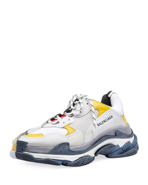 Split Triple S Dad Sneakers