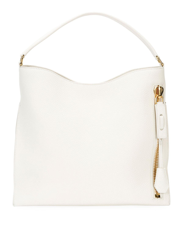 013369ab5 Lyst - Tom Ford Alix Small Calfskin Hobo Bag in White