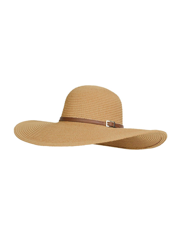 Lyst - Melissa Odabash Jemima Wide-brim Floppy Beach Hat in Natural d264db8b2f9c