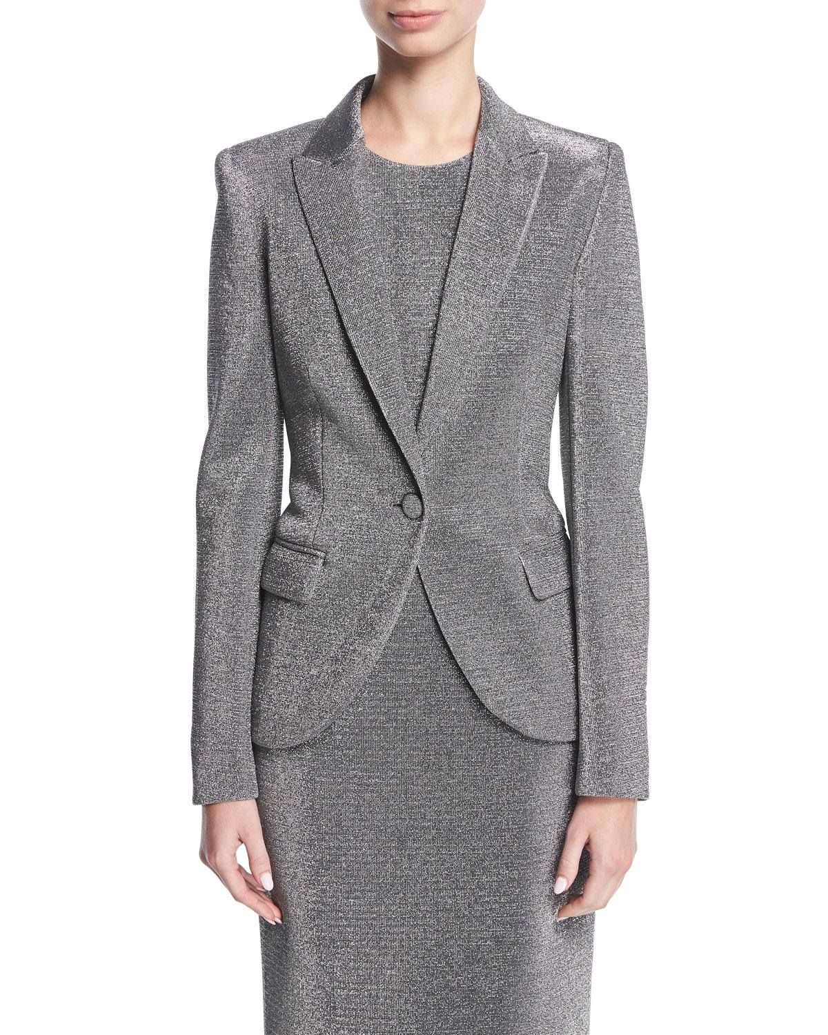 Escada Bouclé Notch-Lapel Blazer Outlet Prices Shipping Discount Sale Clearance 2018 New Really coVjlQ