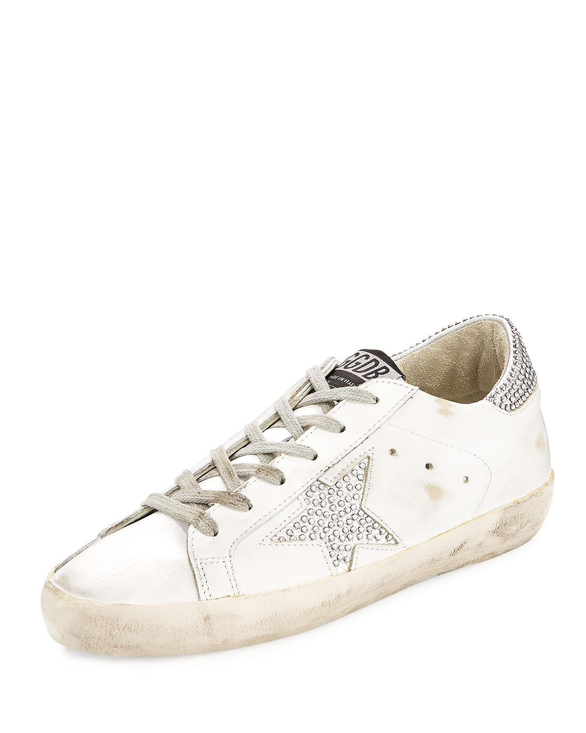 clearance fashion Style Golden Goose Deluxe Brand Superstar crystal-studded sneakers outlet visa payment purchase online Ue6vHHt8H