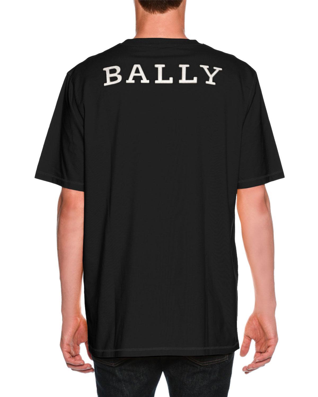 Bally Auto Print T-Shirt Black, Womens cotton jersey t-shirt in black Bally