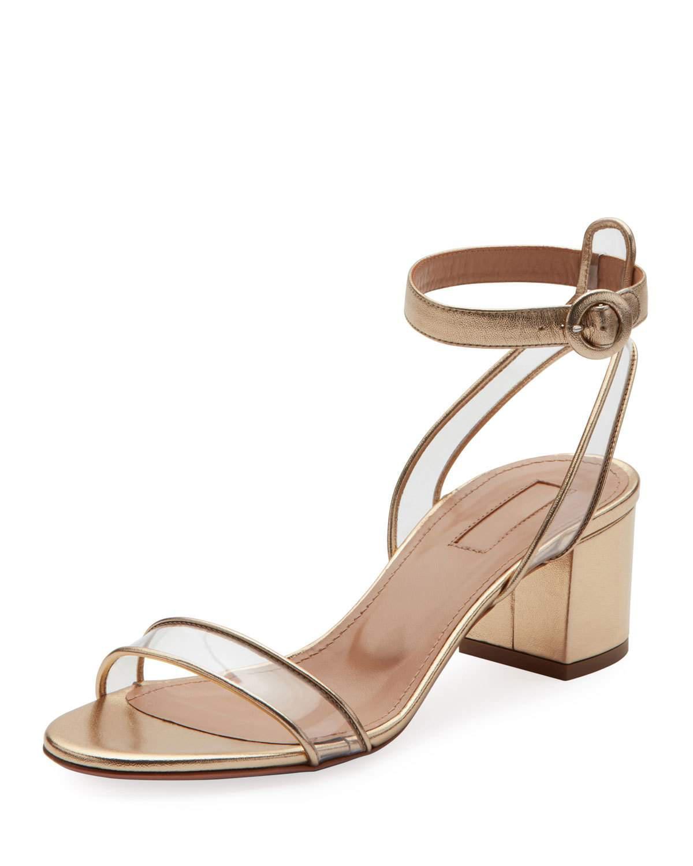 eac208d3489 Women's Minimalist Metallic Block-heel Sandals