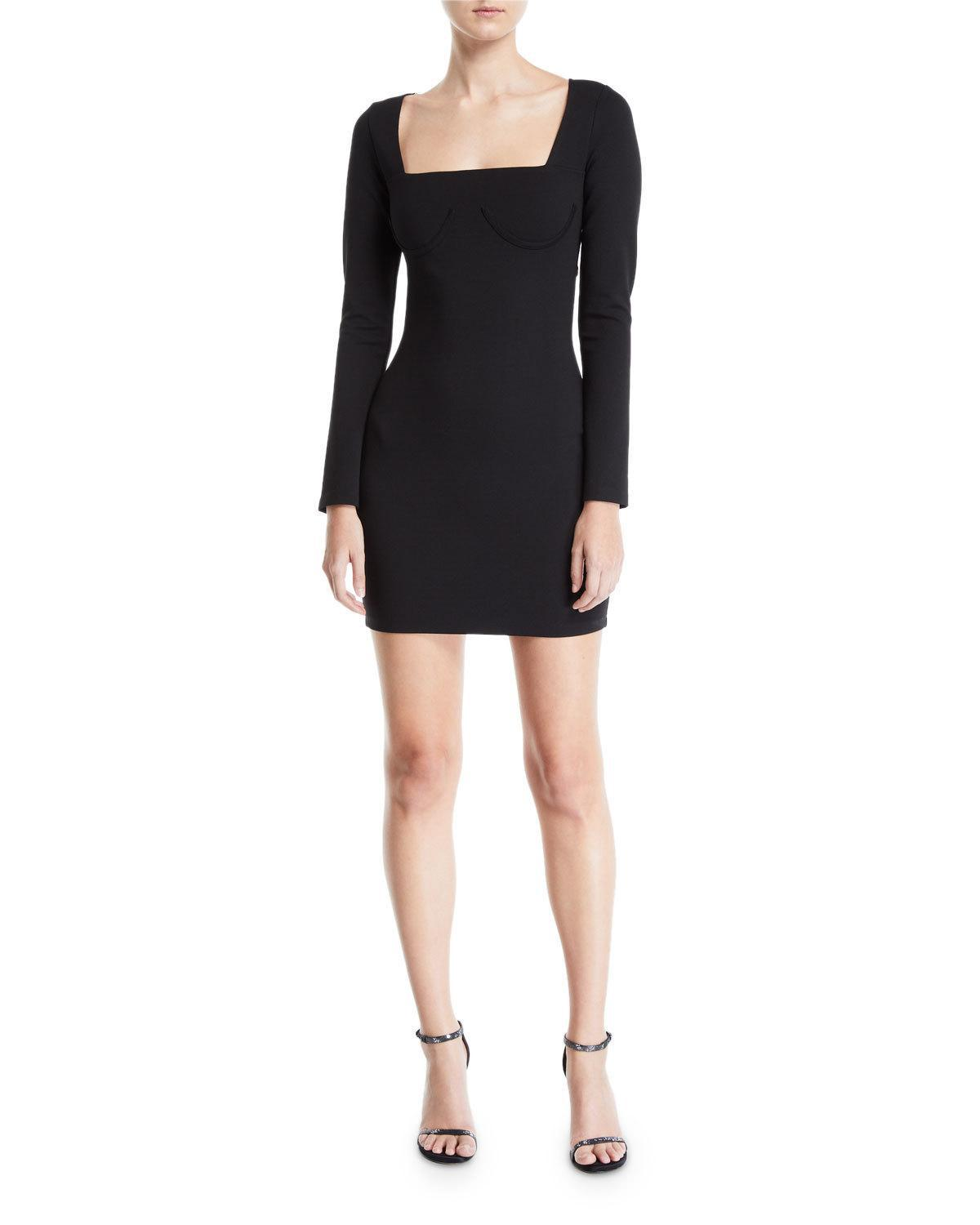 4760ace134fbc Lyst - Donna Mizani Romana Long-sleeve Cutout-back Mini Dress in Black