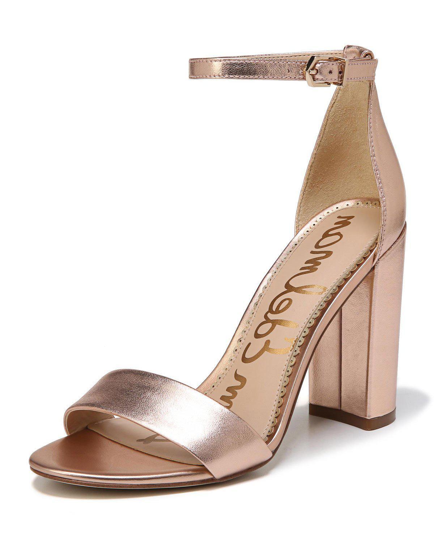 072e9a245d41b Lyst - Sam Edelman Yaro Metallic Block-heel Sandal in Metallic