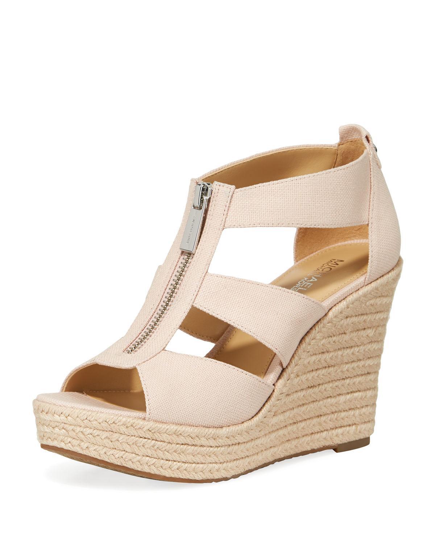 c4b36ab532f Women's Damita Zip-front Wedge Sandals Fuchsia