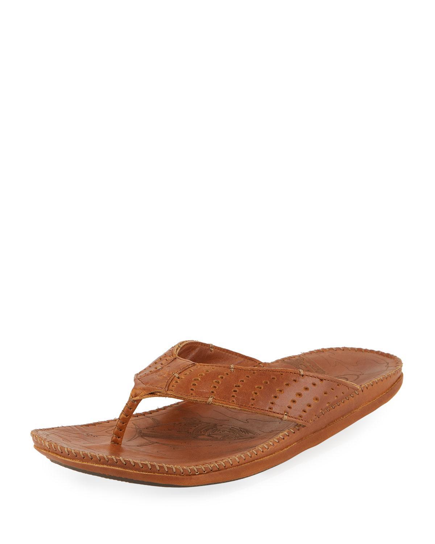 705cd21b11b51 Lyst - Olukai Hoe Perforated Thong Sandal in Brown for Men