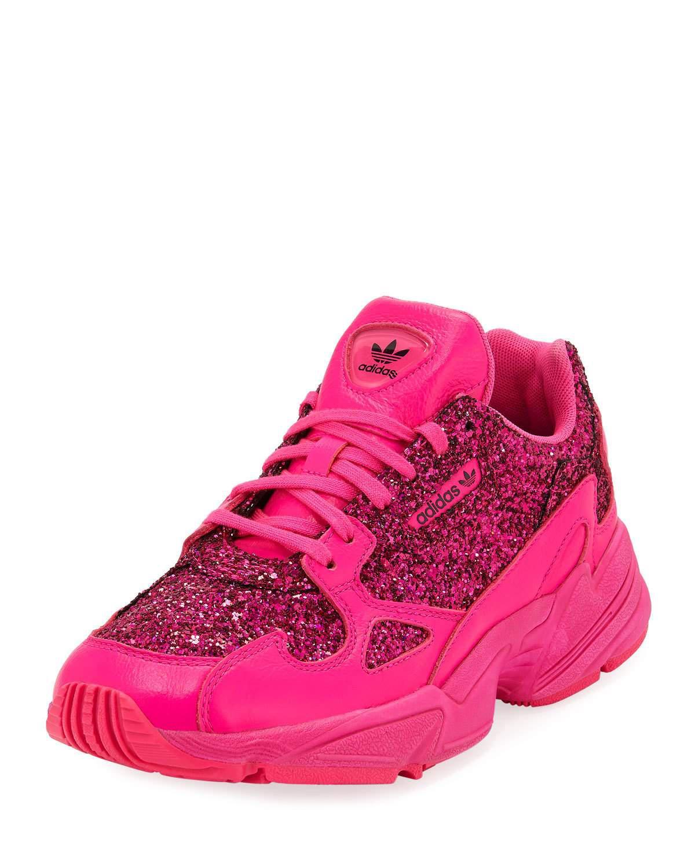 Falcon Women's Glitter Sneakers in Pink