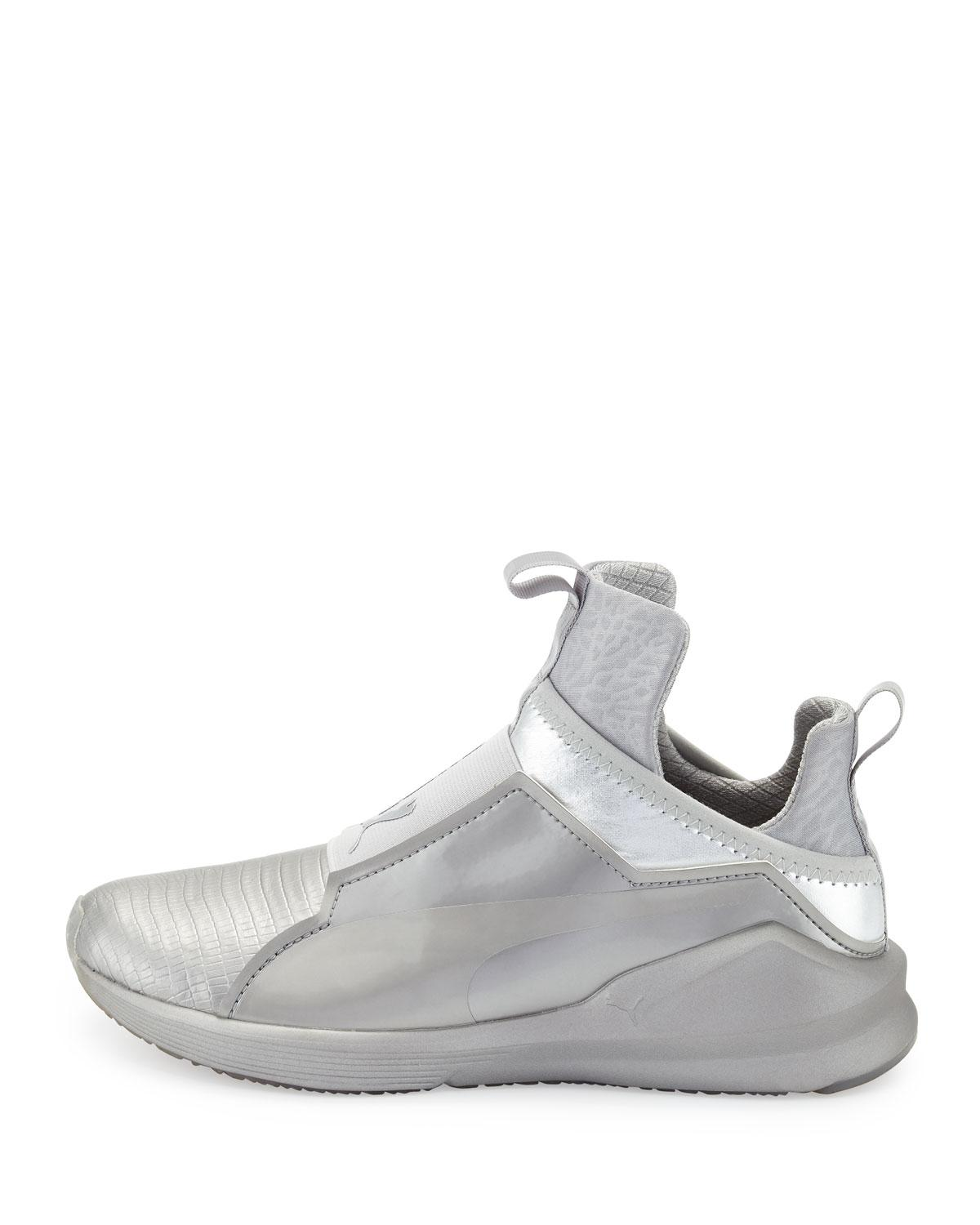2b8e3be043a4 Lyst - PUMA Fierce Lizard-embossed High-top Sneaker in Metallic