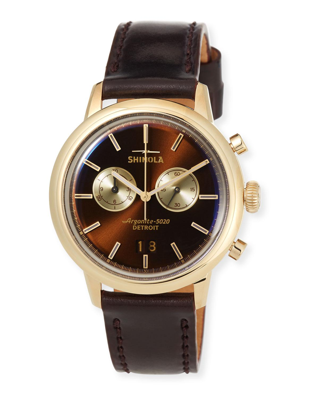 c17bb70f1 Shinola - Red Men's Bedrock Chronograph Watch for Men - Lyst. View  fullscreen