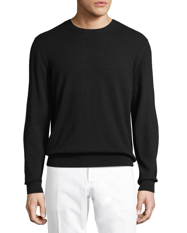Berluti Cashmere Crewneck Sweater in Black for Men | Lyst