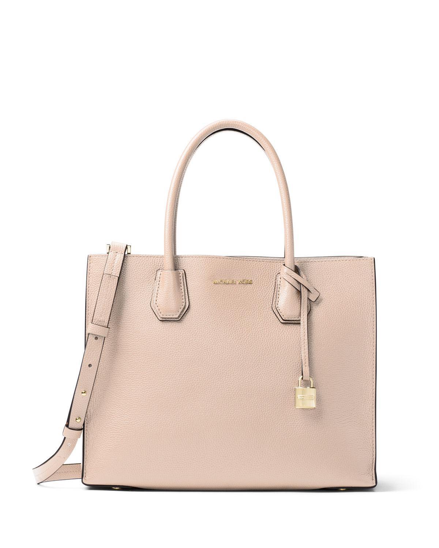 b5d39ce548b2 Lyst - Michael Michael Kors Mercer Large Convertible Tote Bag in Pink
