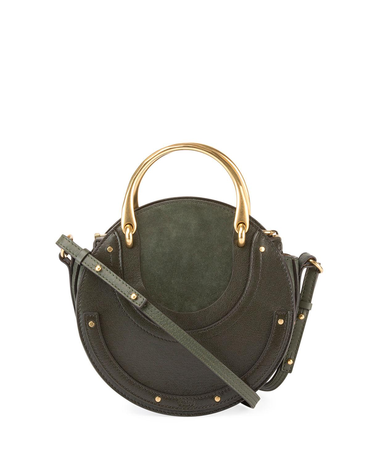 Chlo 233 Pixie Medium Round Double Handle Tote Bag In Green