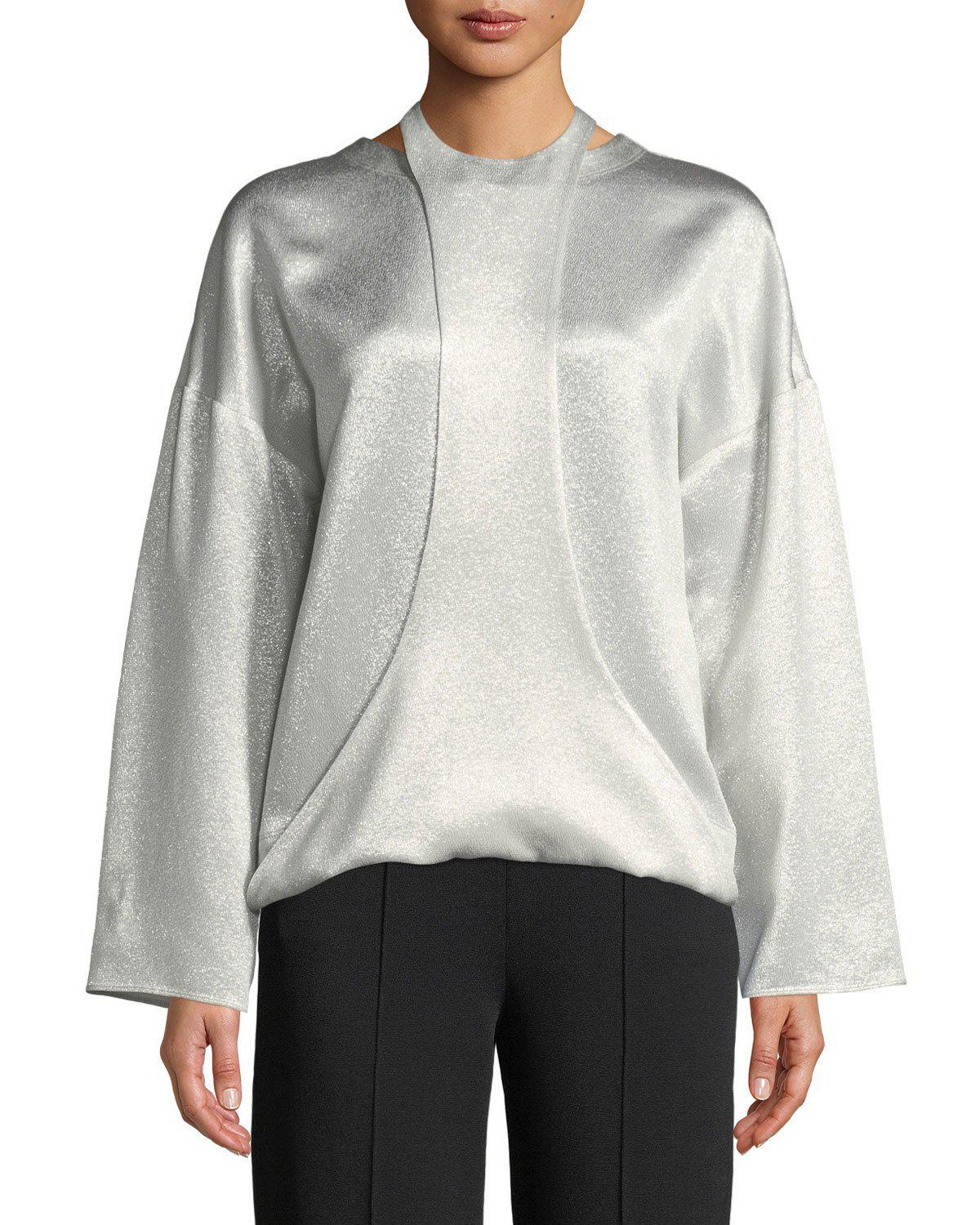 Hammered lamé blouse Valentino Latest Collections KJ2ltxP