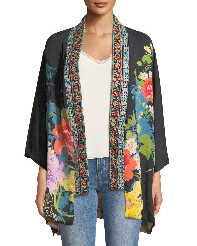 7c44a4a97 Lyst - Johnny Was Plus Size Fuskha Floral-print Kimono - Save 1%