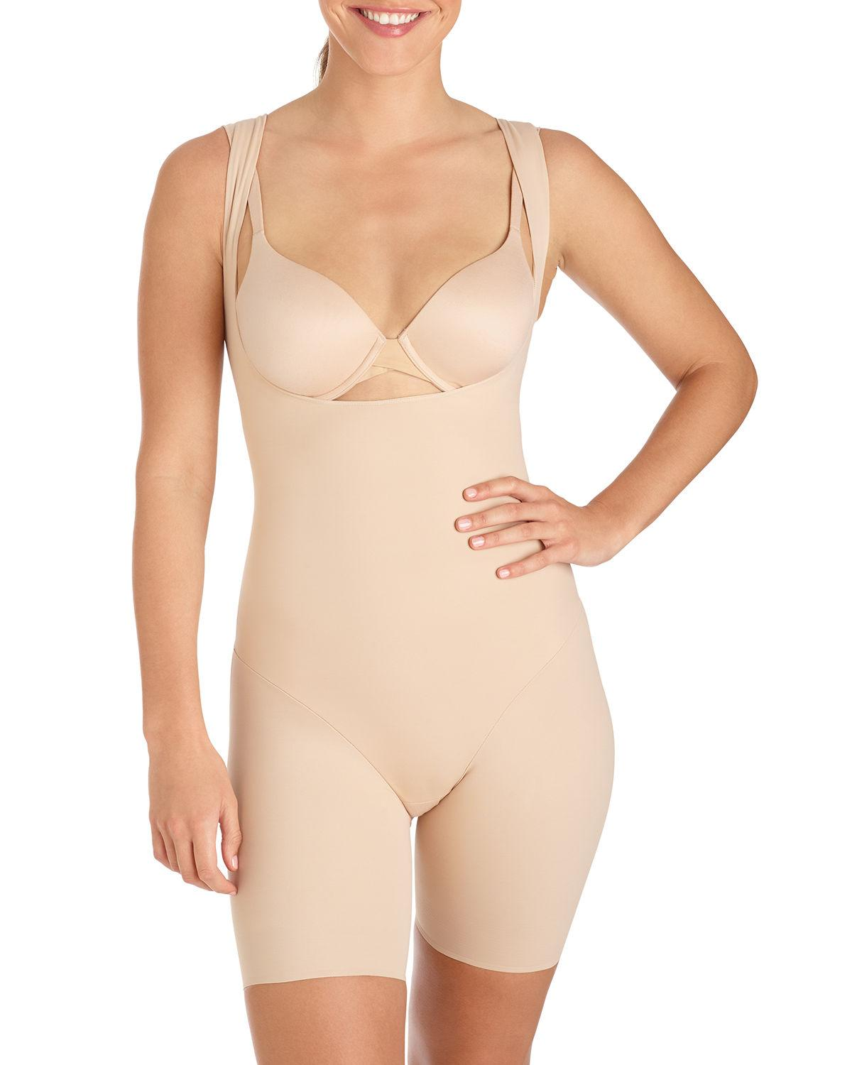 Tc fine intimates Sheer Body Briefer Bodysuit in Natural