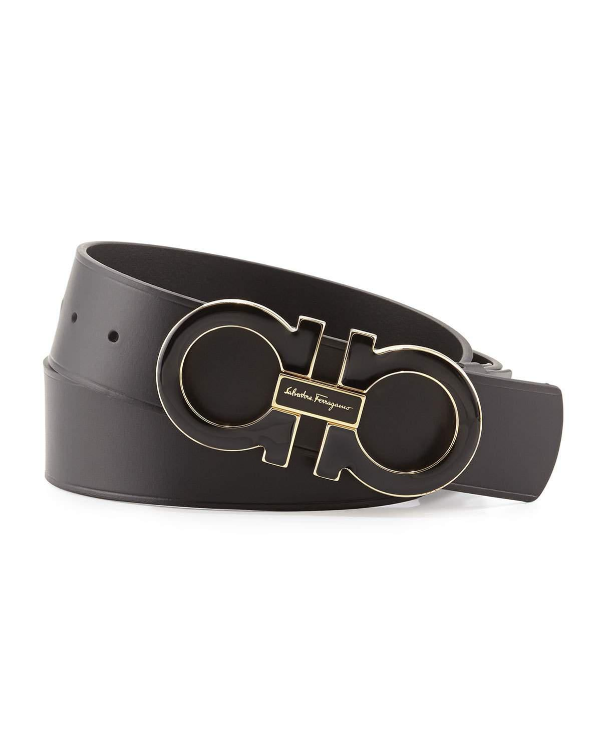 c3aaa42a8c47e ... low price lyst ferragamo gancini double buckled belt in black for men  01bcf 425e3