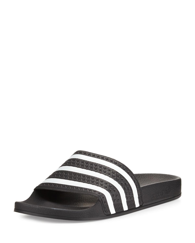 d4c15d80dfff0f Lyst - Adidas Men s Adilette 3 Rubber Slide in Black for Men