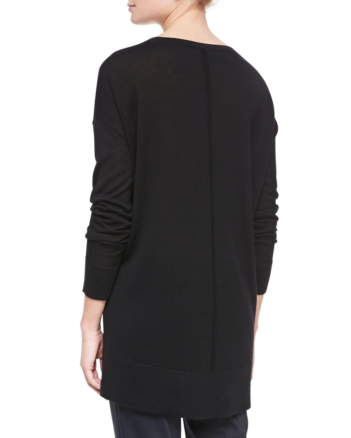 The row Amherst Long-sleeve Oversized V-neck Sweater in Black | Lyst