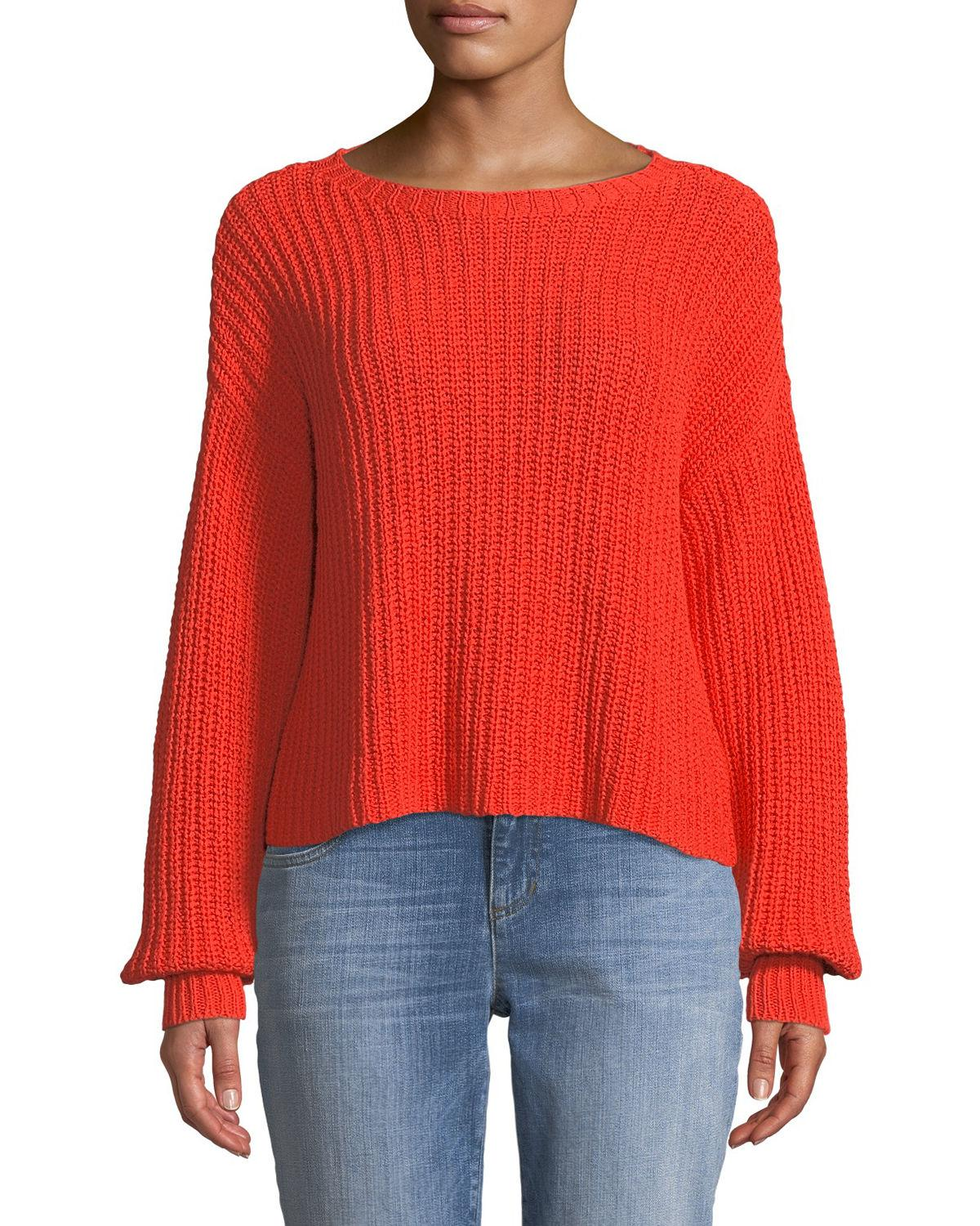 d1e87f608aa Lyst - Eileen Fisher Plus Size Organic Cotton Round-neck Sweater in ...