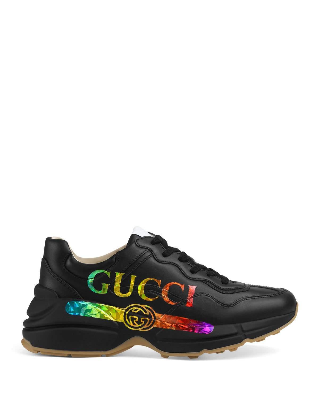 Gucci Rhyton Logo-print Leather