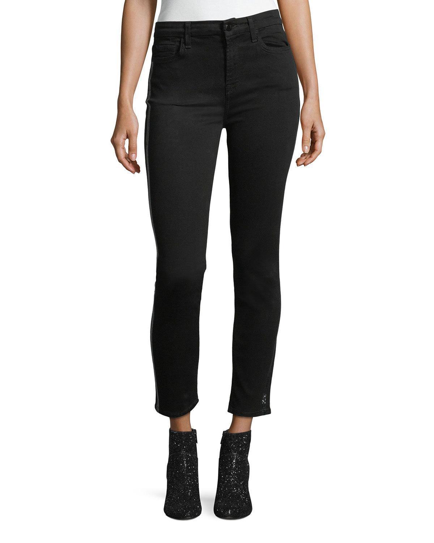 Get To Buy Cheap Price 2018 New skinny tuxedo stripe jeans - Black Karl Lagerfeld W62BNzGz7