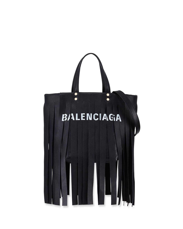 Balenciaga Laundry Cabas XS Fringe Satchel Bag bIFzfxiA5