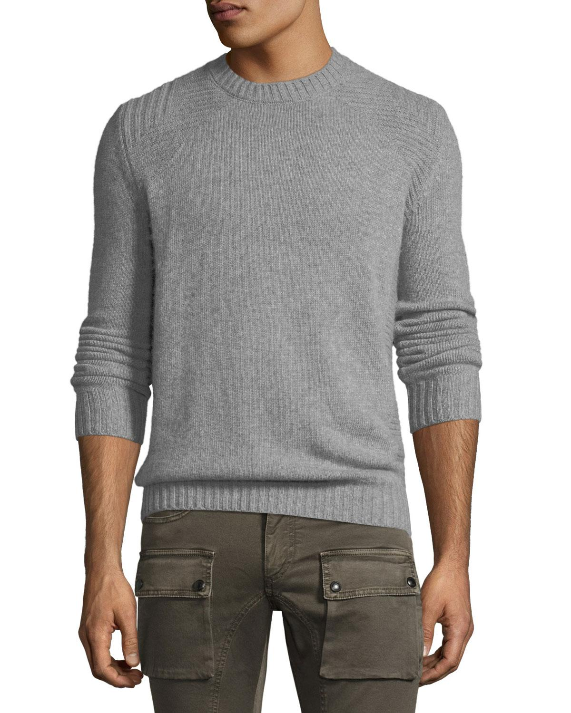 4381f6f70444 Lyst - Belstaff Lanson Virgin Wool-cashmere Crewneck Sweater in Gray ...