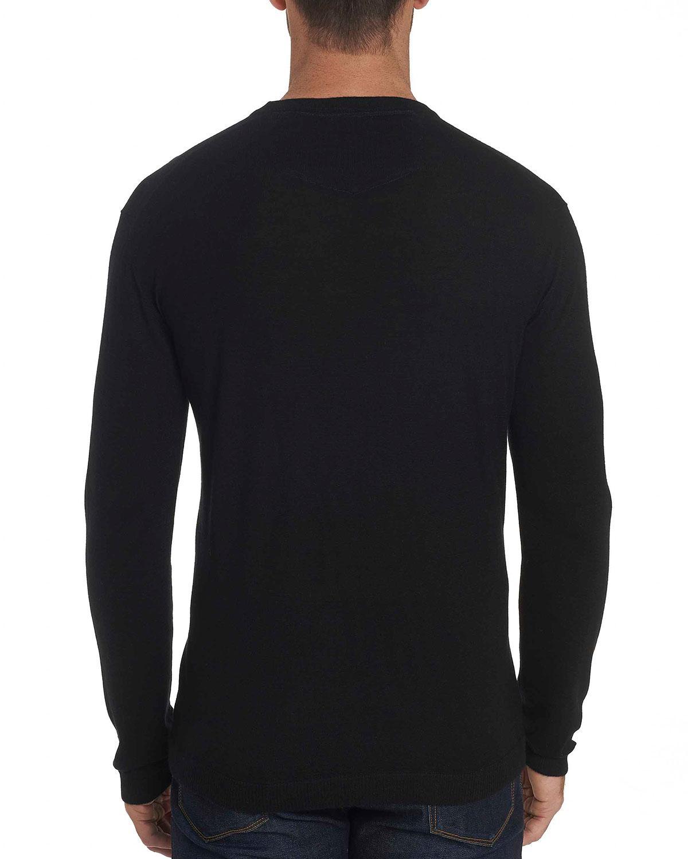 Robert Graham Mens Fulton Chain Long Sleeve Sweater