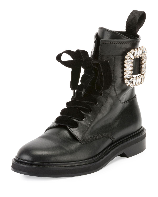 cbd1c16f100 Women's Black Viv' Rangers Strass Leather Boots
