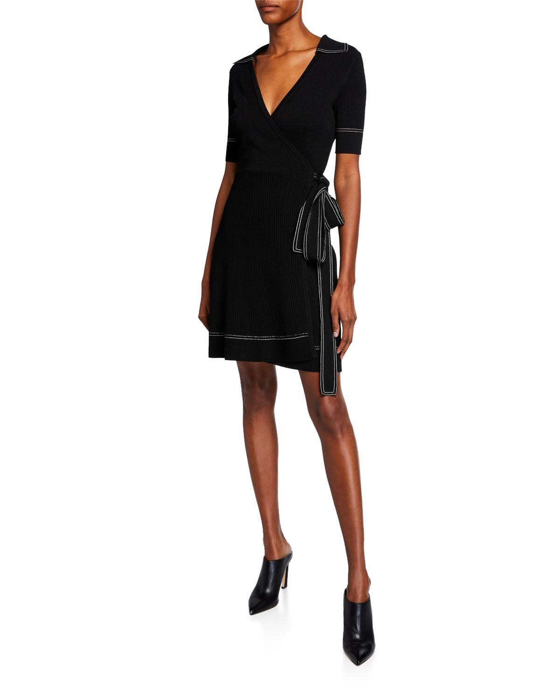 ee589a40c5 Lyst - Diane von Furstenberg Liv Short-sleeve Wrap Dress W ...
