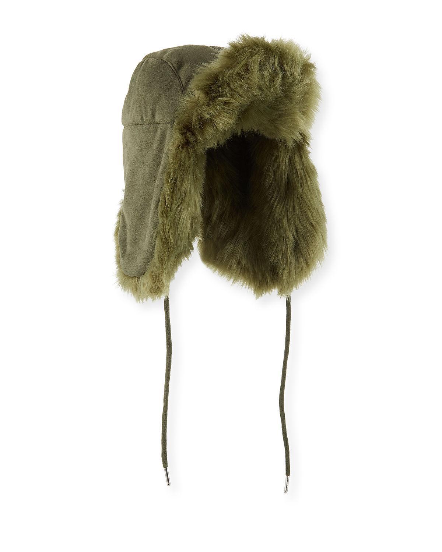 0676d93b288 Charlotte Simone Fashion Helmet Trapper Hat W  Faux Fur Lining in ...