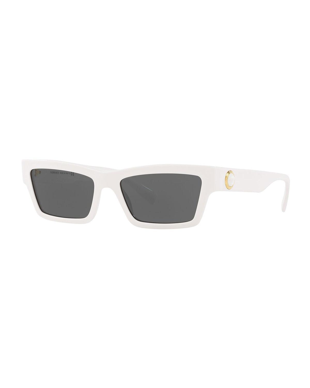 4fbeb360d2e7 Versace - White Acetate Cat-eye Sunglasses - Lyst. View fullscreen