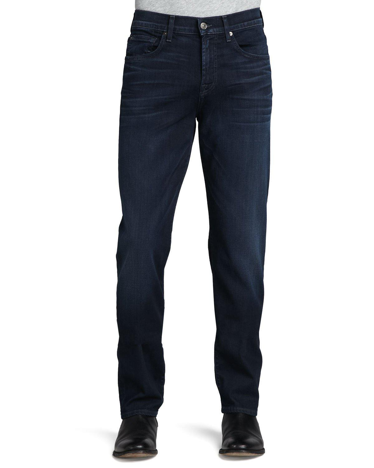 7 For All Mankind Luxe Performance Carsen Blue Ice Jeans